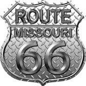 Route 66 Missouri Diamond Highway Shield Novelty Metal Magnet