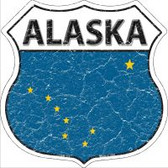 Alaska State Flag Highway Shield Novelty Metal Magnet