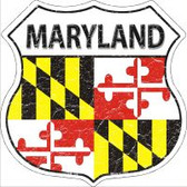 Maryland State Flag Highway Shield Metal Sign