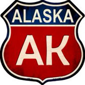 Alaska Highway Shield Novelty Metal Magnet