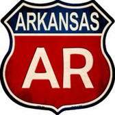 Arkansas Highway Shield Novelty Metal Magnet