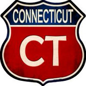 Connecticut Highway Shield Novelty Metal Magnet