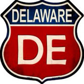Delaware Highway Shield Novelty Metal Magnet