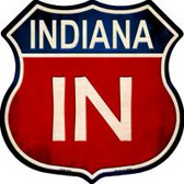 Indiana Highway Shield Novelty Metal Magnet