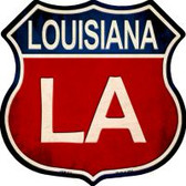 Louisiana Highway Shield Novelty Metal Magnet