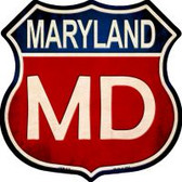 Maryland Highway Shield Novelty Metal Magnet