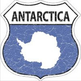 Antarctica Flag Highway Shield Novelty Metal Magnet