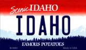 Idaho State Background Metal Novelty Magnet