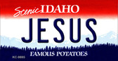 Jesus Idaho State Metal Novelty Aluminum Key Chain KC-9885