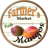 Farmers Market Mangos Novelty Metal Circular Sign