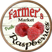 Farmers Market Raspberries Novelty Metal Circular Sign