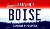 Boise Idaho State Background Metal Novelty Magnet