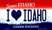 I Love Idaho Idaho State Background Metal Novelty Magnet
