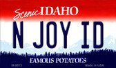 N Joy ID Idaho State Metal Novelty Magnet M-9873