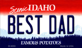 Best Dad Idaho State Metal Novelty Magnet M-9889