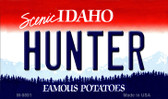 Hunter Idaho State Background Metal Novelty Magnet