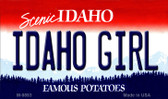 Idaho Girl Idaho State Background Metal Novelty Magnet