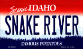 Snake River Idaho State Background Metal Novelty Magnet