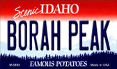 Borah Peak Idaho State Background Metal Novelty Magnet