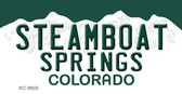 Steamboat Springs Colorado Background Metal Novelty Key Chain