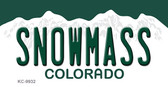 Snowmass Colorado Metal Novelty Aluminum Key Chain KC-9932