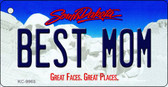 Best Mom South Dakota Background Metal Novelty Key Chain
