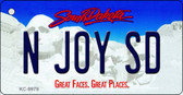 N Joy SD South Dakota Background Metal Novelty Key Chain