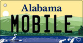 Mobile Alabama Background Metal Novelty Key Chain