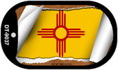"""New Mexico State Flag Scroll Dog Tag Kit 2"""" Metal Novelty"""