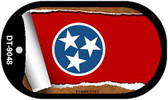 """Tennessee State Flag Scroll Dog Tag Kit 2"""" Metal Novelty"""
