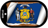 """Wisconsin State Flag Scroll Dog Tag Kit 2"""" Metal Novelty"""