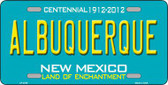 Albuquerque New Mexico Teal Novelty Metal License Plate LP-2785