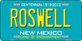 Roswell New Mexico Teal Novelty Metal License Plate LP-2788