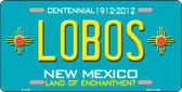 Lobos New Mexico Teal Novelty Metal License Plate LP-2792