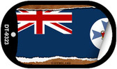 "Queensland Country Flag Scroll Dog Tag Kit 2"" Metal Novelty"