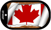 "Canada Country Flag Scroll Dog Tag Kit 2"" Metal Novelty"