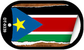 "South Sudan Country Flag Scroll Dog Tag Kit 2"" Metal Novelty"