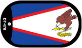 "American Samoa Country Flag Scroll Dog Tag Kit 2"" Metal Novelty"