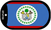"Belize Country Flag Scroll Dog Tag Kit 2"" Metal Novelty"