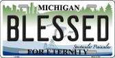 Blessed Michigan State Metal Novelty License Plate LP-2807