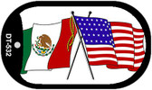 "American Mexico Country Flag Dog Tag Kit 2"" Metal Novelty"