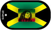 "Bob Marley Jamaica Country Flag Dog Tag Kit 2"" Metal Novelty"