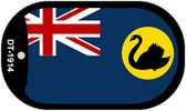 "West Australia Country Flag Dog Tag Kit 2"" Metal Novelty"