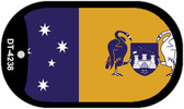 "Australian Capital Country Flag Dog Tag Kit 2"" Metal Novelty"
