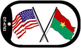 "American Burkina Country Flag Dog Tag Kit 2"" Metal Novelty"