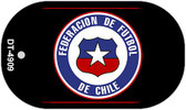 "Federacion De Futbol De Chili Country Flag Dog Tag Kit 2"" Metal Novelty"