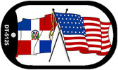 "American Dominican Republic Country Flag Dog Tag Kit 2"" Metal Novelty"