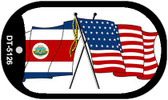 "American Costa Rica Country Flag Dog Tag Kit 2"" Metal Novelty"