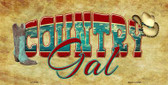 Country Gal Novelty Metal License Plate