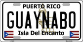 Guaynabo Puerto Rico Metal Novelty License Plate LP-2841